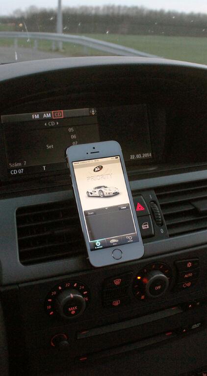 ALP connect lézerblokkoló vezérlő program egy Iphone telefonon